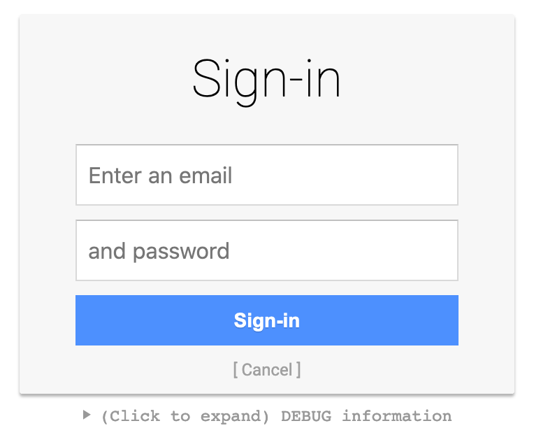 Oidc login page